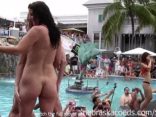 girls eating pussy and getting totally naked at wild pool party | girlnakedpartypoolpussy eatingwild