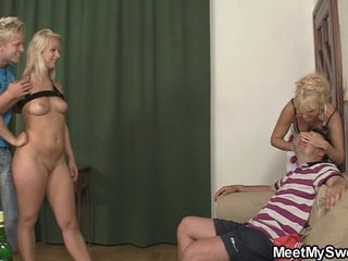 Perverted parents lure his GF into threesome | 3someperverts