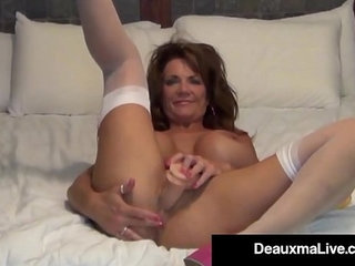 Busty Milf Deauxma Uses inch Anal Plug Dildo To Squirt! | bustydildoplugsquirt