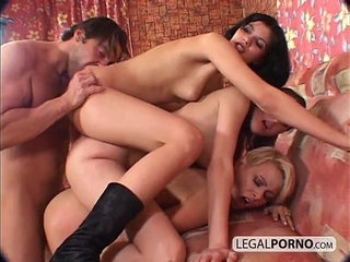 Triple stacked dirty babes fucked from behind TS | ass fuckingdirty