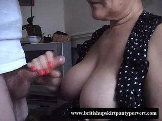 British granny lifts her skirt and lets me fuck her tight panties | britishpantiesskirttight