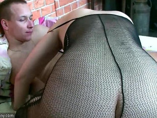 Hot Horny spectacled granny and Young guy fuck OLDNANNY | gaygrannyhornyolder womanyoung