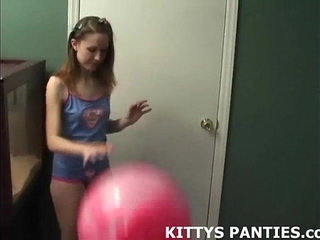 18yo Kitty playing with a puzzle in a miniskirt | 18 years oldskirt