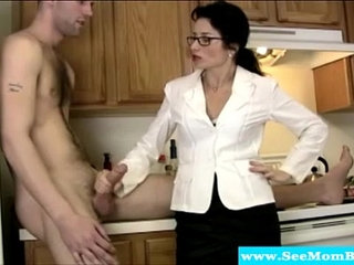 Cougar tuggs and blows cock like a pro   cockcougar