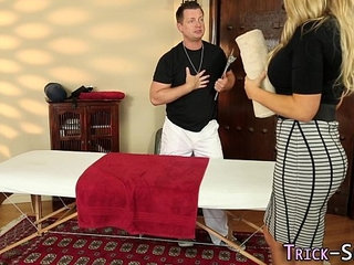 Busty blond rides masseur | blondebustyriding