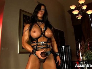 Aziani Iron Angela Salvagno in leather with strap | leatherstrapon