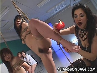 Smutty Japanese babes indulge in group BDSM action | actionbdsmgroupjapanese