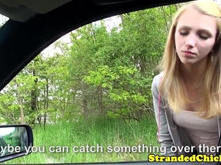 Young hitchhiker pays ride with her pussy | hitchhikerspussyridingyoung