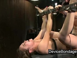 Bound babe fisted and fucked and face jizzed in gangbang | babeface fuckfistinggangbangjizz