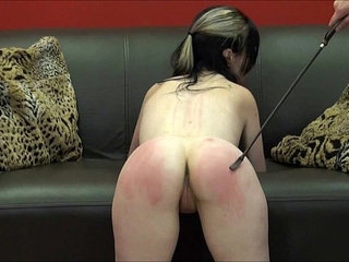 Faes bare ass spanking and corporal punishment of striped amateur slave in sever | amateurasspunishmentslavespanking